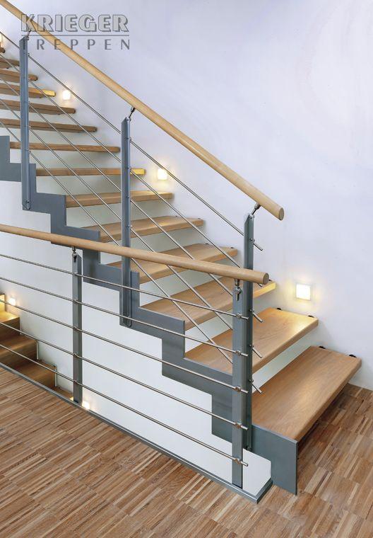 treppe aus stahl und holz haus. Black Bedroom Furniture Sets. Home Design Ideas