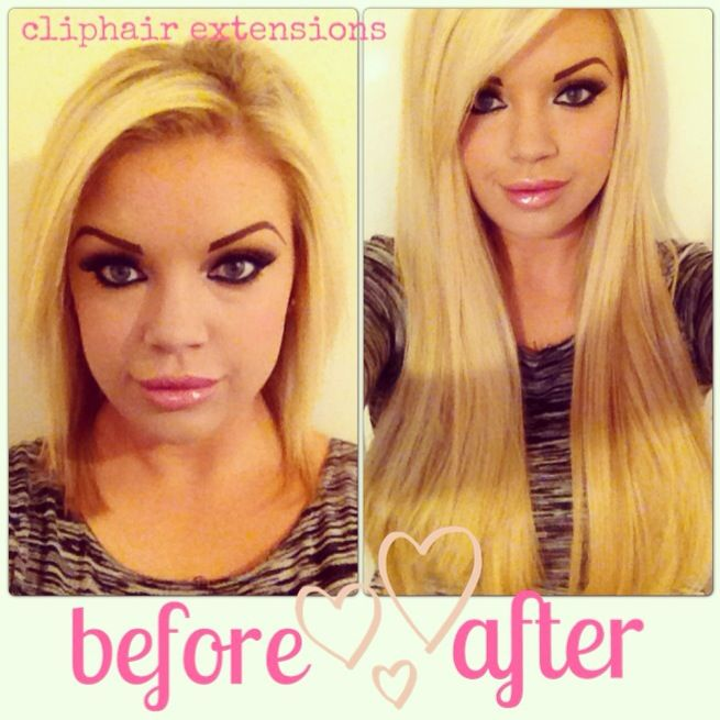 Before And After 24 Double Wefted Human Hair Extensions Hair
