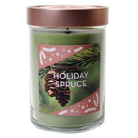 Signature Soy™ Candle Holiday Spruce - 21 oz : Target