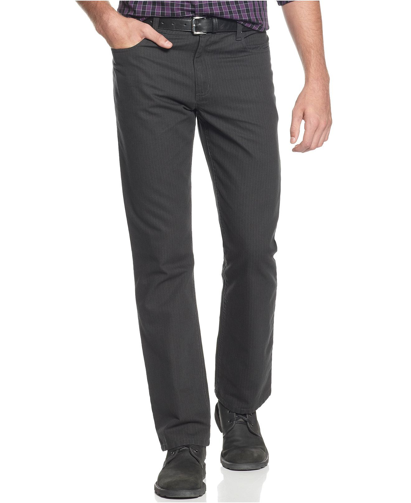 Kenneth Cole Reaction Pants, Five Pocket Printed Pinstripe Pant ...