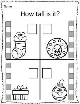 Tall Short Christmas Measurement Worksheets Christmas Math Worksheets Kindergarten Christmas Math Worksheets Measurement Worksheets