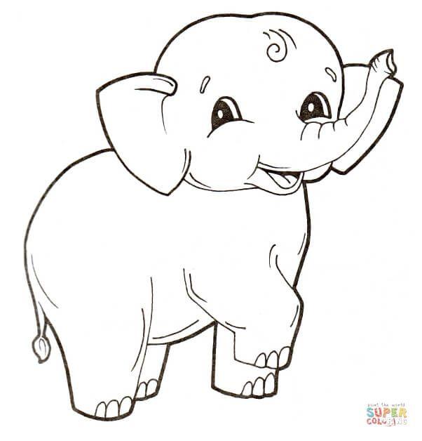 Supercoloring Elephant Portraits