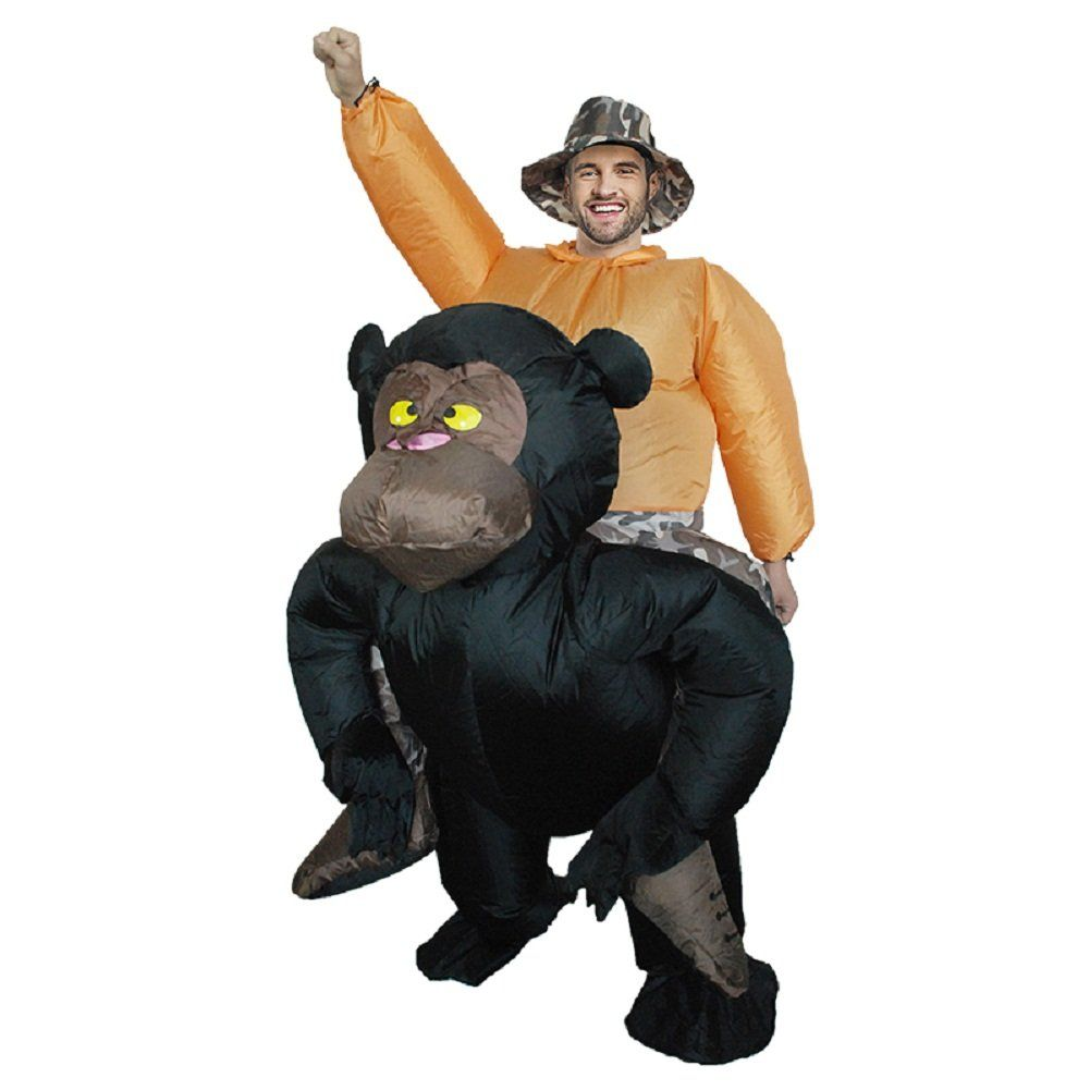 Chimpanze Costume Adult Inflatable Blow Up Men Suit Carnival Fancy Dress Cosplay