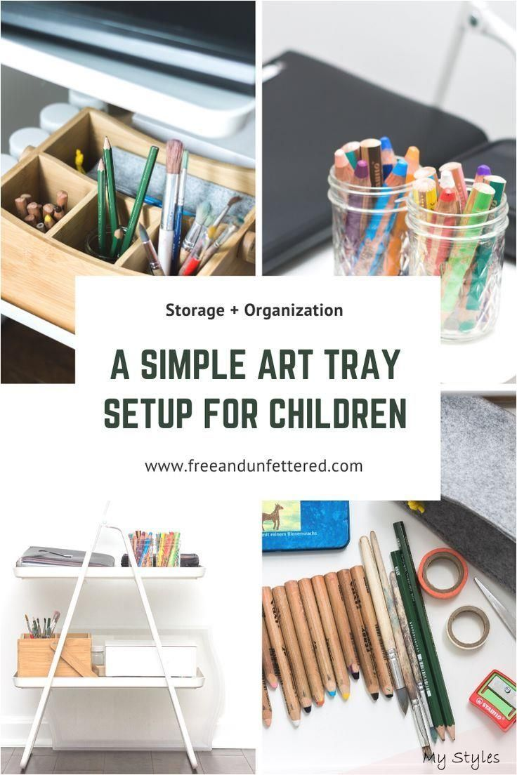 Tips on Creating an Accessible + Organized Art Station for Kids #art #supplies #organization #small #spaces