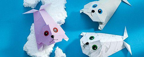 origami tiere falten robbe geschenk bastelideen pinterest tiere falten origami und tiere. Black Bedroom Furniture Sets. Home Design Ideas