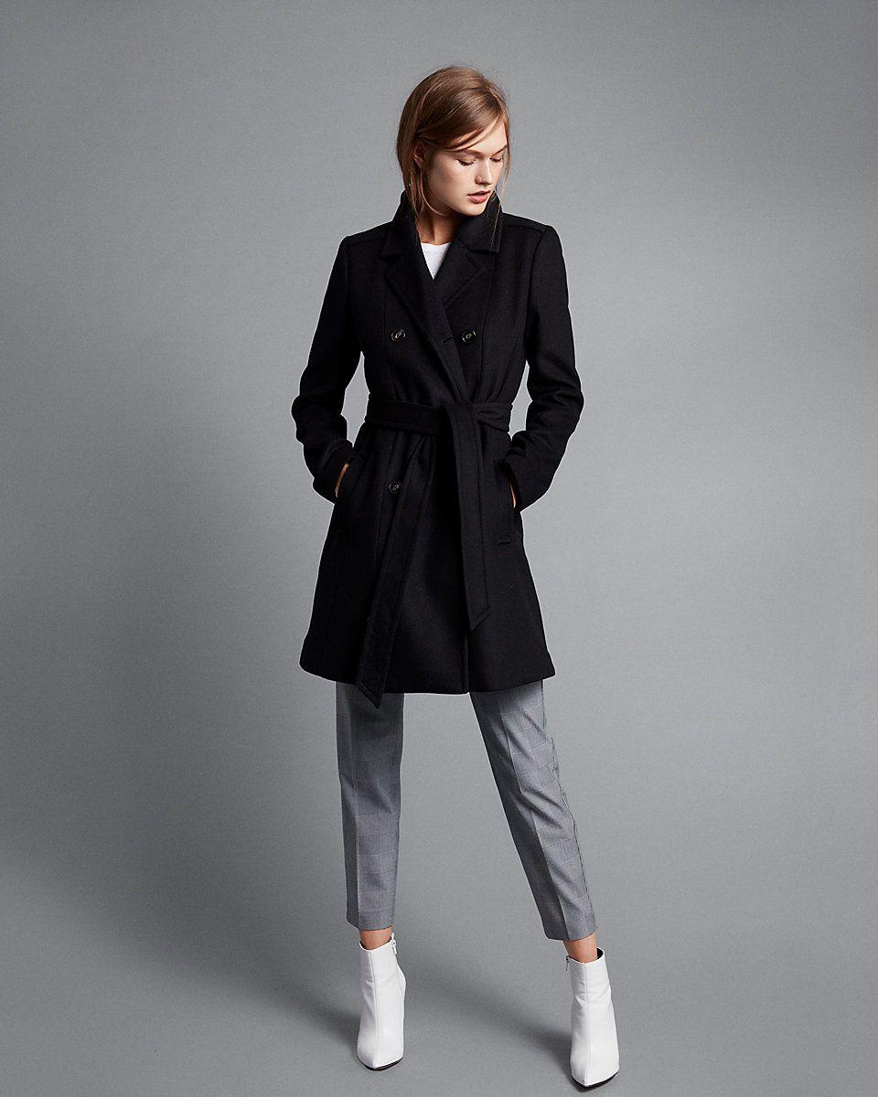 Black trench coat petite, big clit dykes