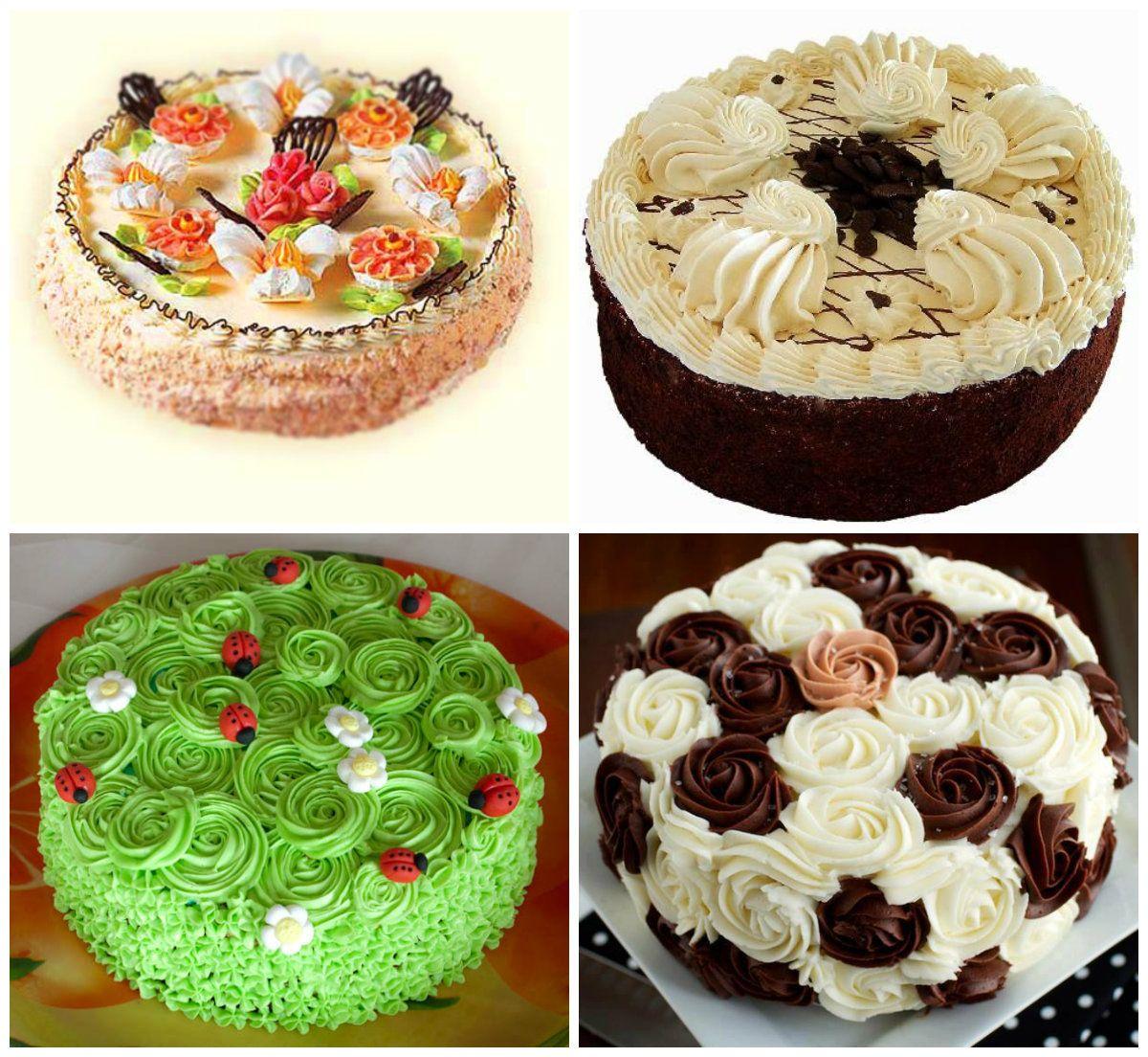 прикрепить как украшать торты в домашних условиях фото примеру, если