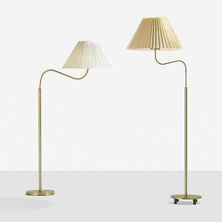 Josef frank pair of floor lamps models 2368 and 2568 svenskt tenn austria 1939
