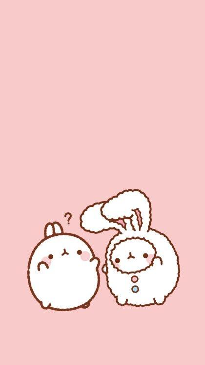 몰랑 베이비핑크 배경[폰배경,연핑크,베이비핑크,딸기우유색,일러스트배경]