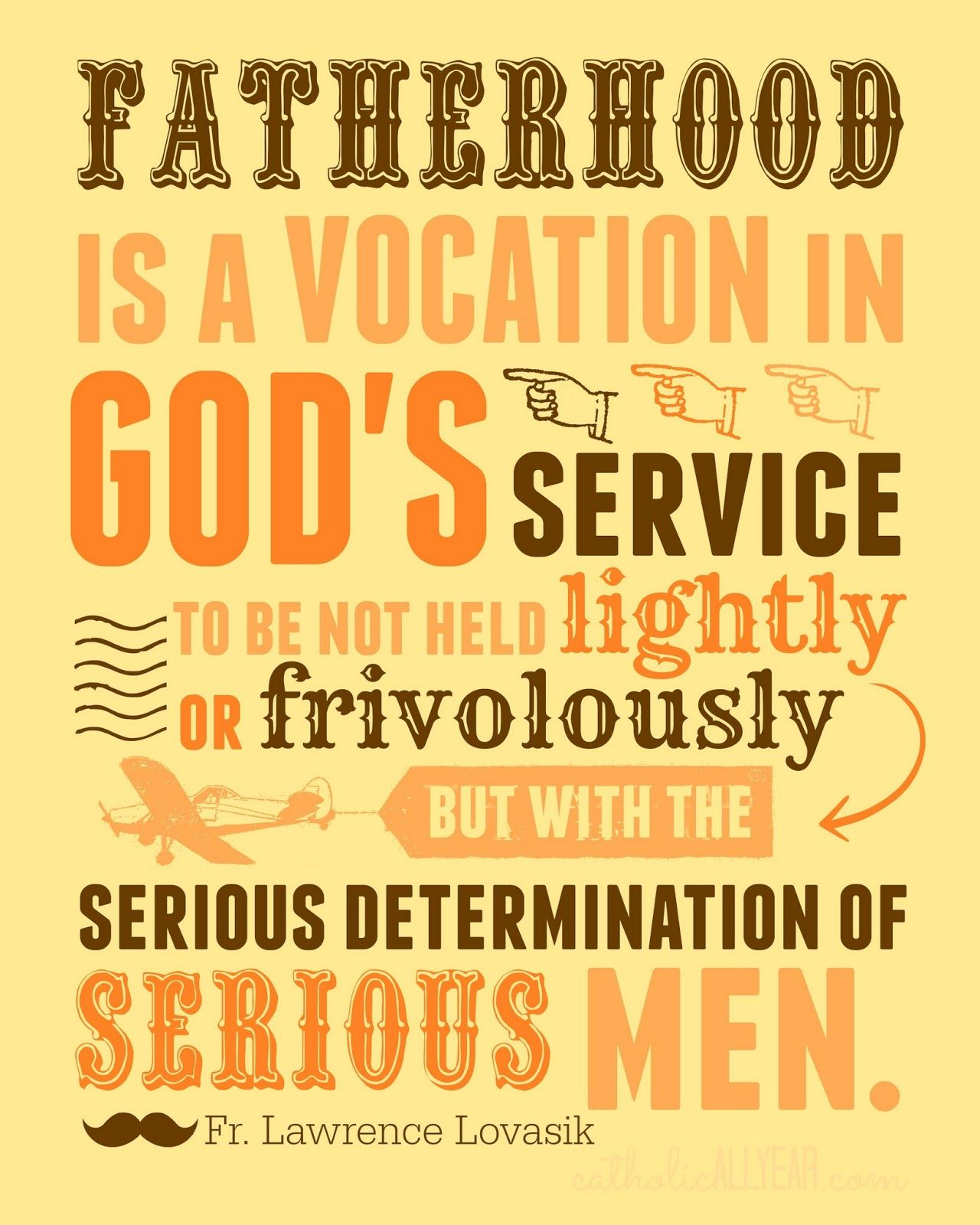 Catholic Quote Of The Day: Catholic All Year: Twelve Free Father's Day Printables Fr
