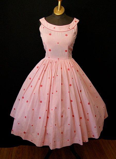 1950's Cotton Sun Dress.