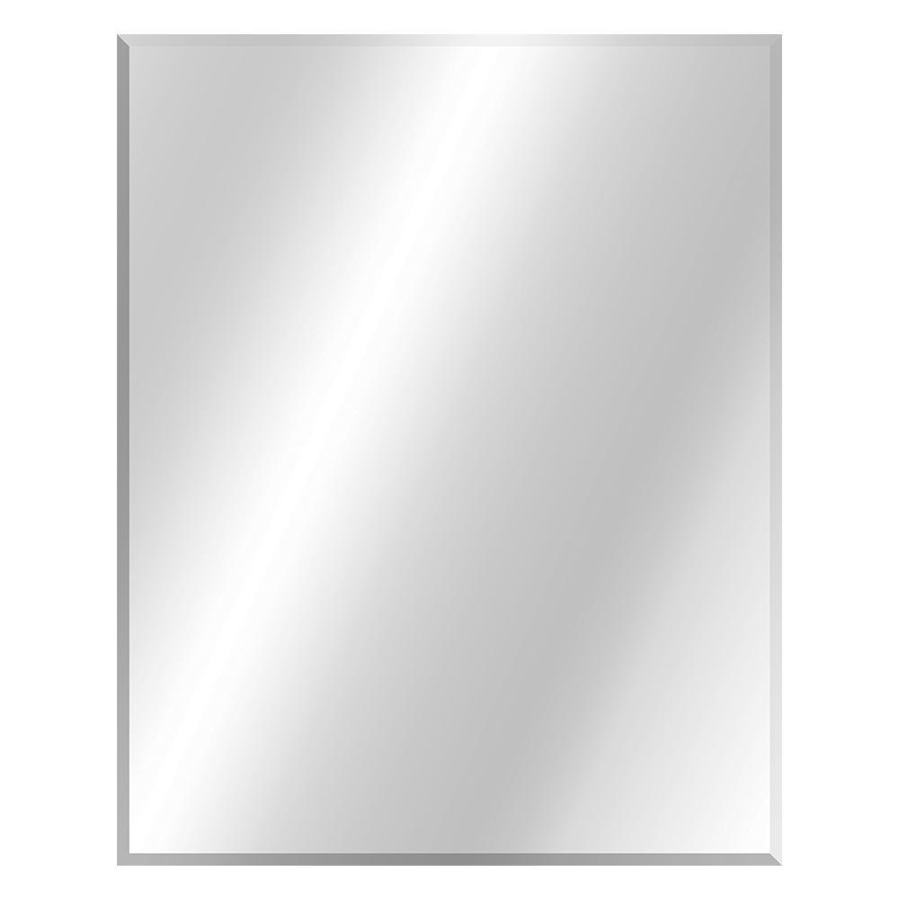 Glacier Bay 24 In W X 30 In H Frameless Rectangular Beveled Edge Bathroom Vanity Mirror In Silver 81173 The Home Depot Bathroom Mirror Lights Beveled Edge Bathroom Vanity Mirror