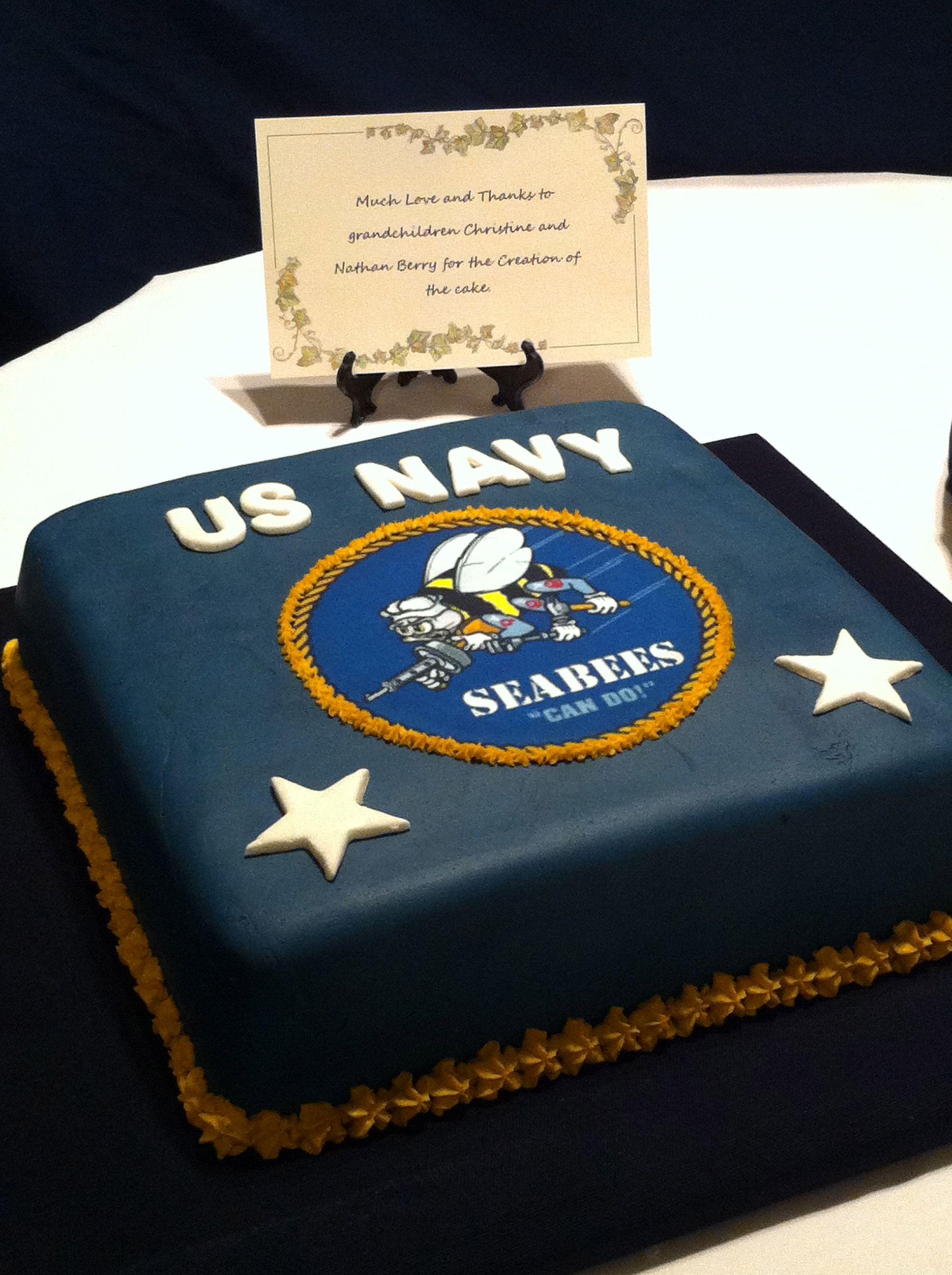 US Navy Seabees Cake Navy cakes, Navy birthday, Us navy