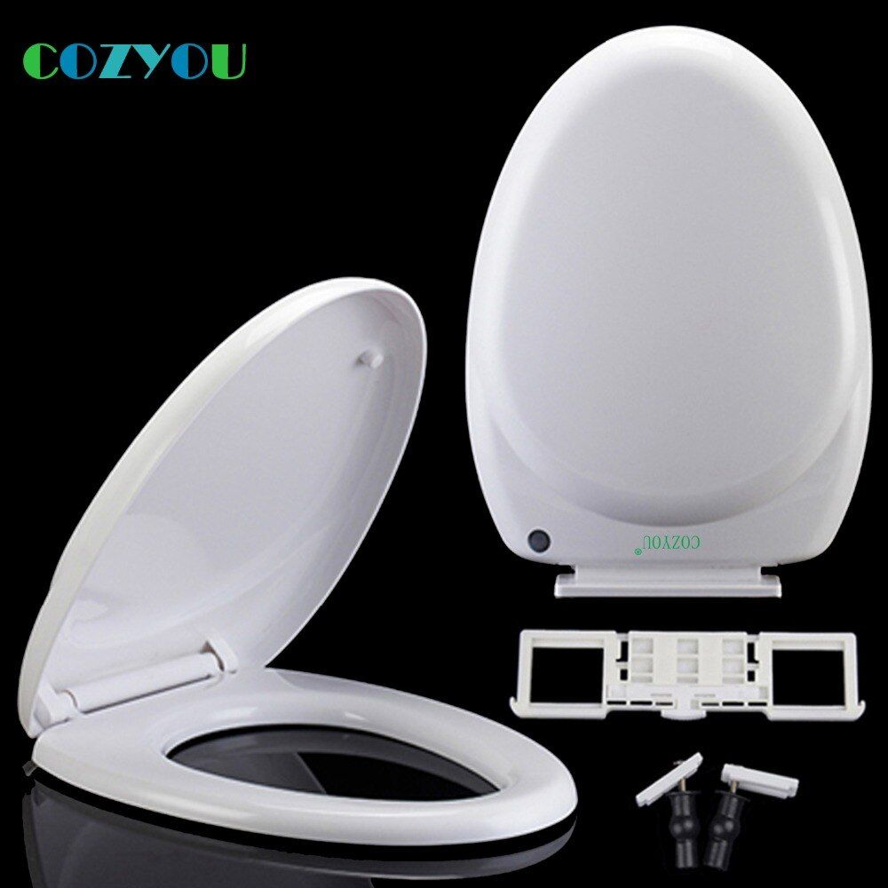 White U Elongated Soft Close Pp Toilet Seat Cover Quick Release