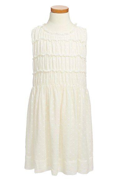 Burberry 'Stephie' Dot Silk Blend Dress (Little Girls & Big Girls) available at #Nordstrom