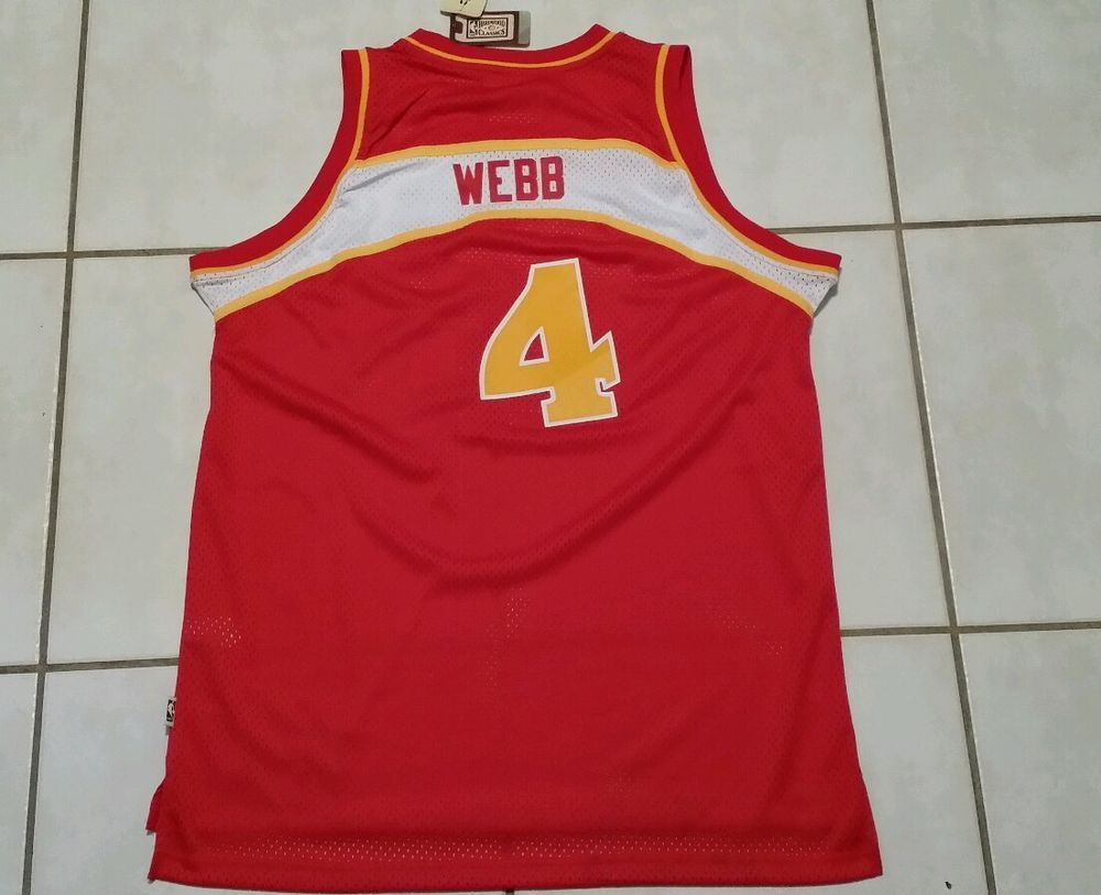 b6530a133b8 ... NWT ADIDAS SWINGMAN Atlanta Hawks Spud Webb Throwback NBA Jersey Mens  2XL adidas AtlantaHawks ...