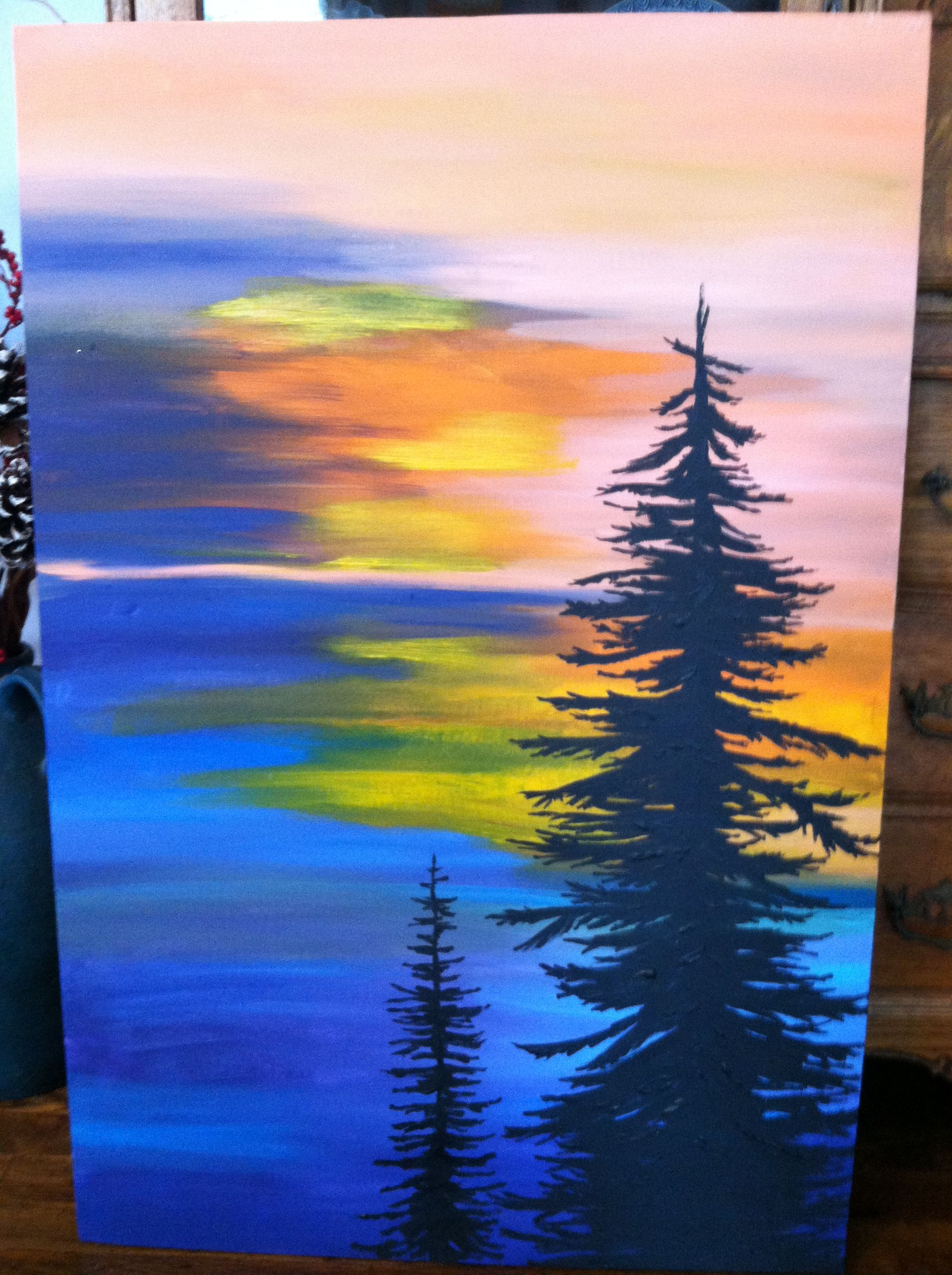 I Painted This Large Canvas As A Christmas Gift For