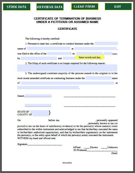 Business Termination Certificate Template  Forum