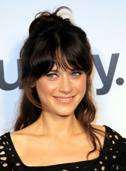 Zooey Deschanel Prom Hairstyles Zooey Deschanel Hair Simple Prom Hair Prom Hair
