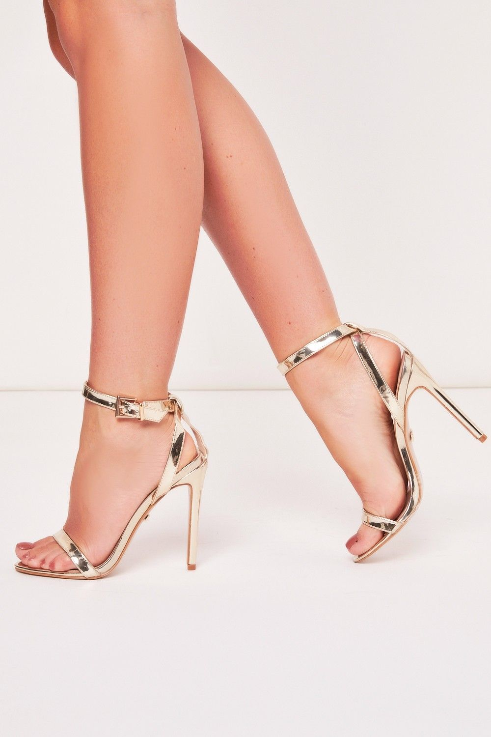 d7a229b7131 Aliyah Gold Barely There Heels in 2019 | high heels | Heels, Gold ...