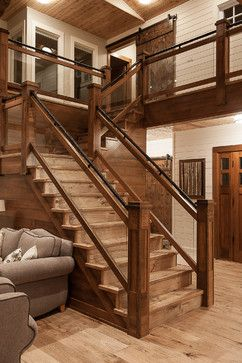 HOME DECOR – RUSTIC STYLE – Saskatchewan Lakeside Retreat - rustic - staircase - other metro - Northern Sky Developments