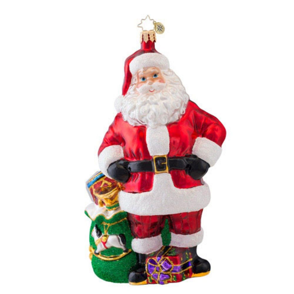 Christopher Radko 7 5 Glass Job Well Done Santa Claus Christmas Ornament White Red Christmas Ornaments Glass Christmas Ornaments Christopher Radko Ornaments