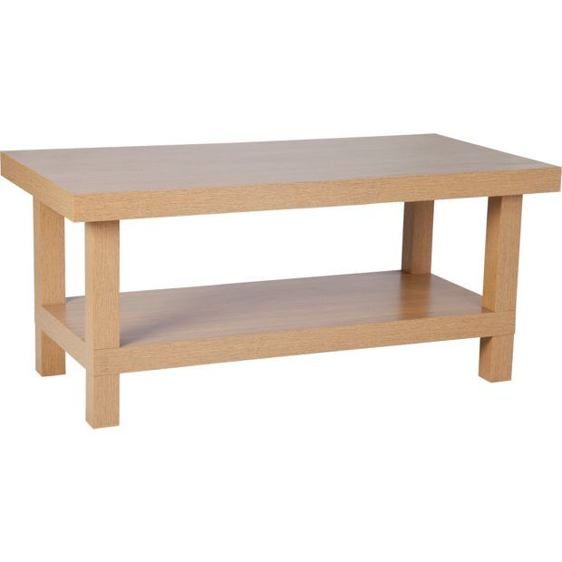 Buy HOME Stratford Chunky 1 Shelf Coffee Table - Oak Effect at Argos ...