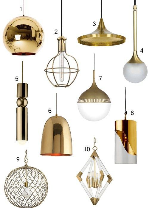 modern brass pendant lights for
