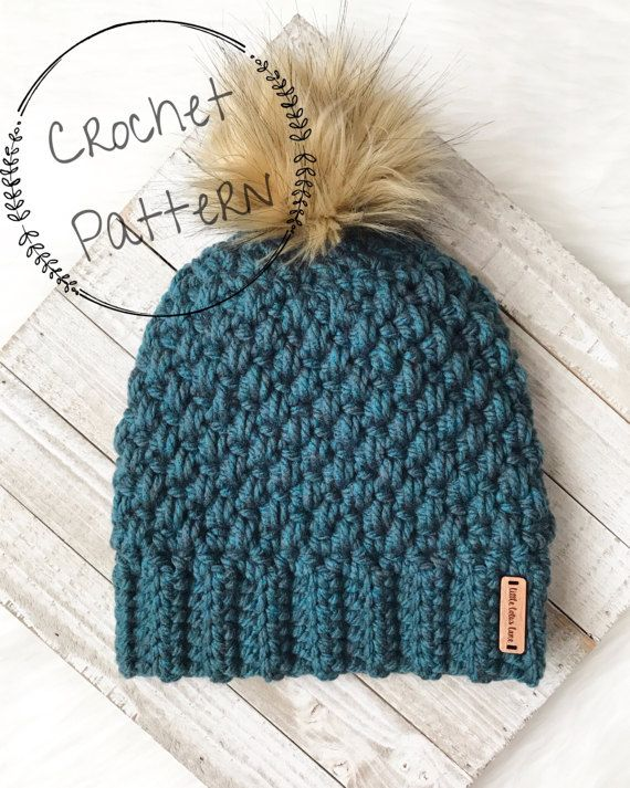 CROCHET PATTERN Charlie Ribbed Slouchy Beanie Baby Toddler Child and Men Women Adult Sizes Instant Download PDF