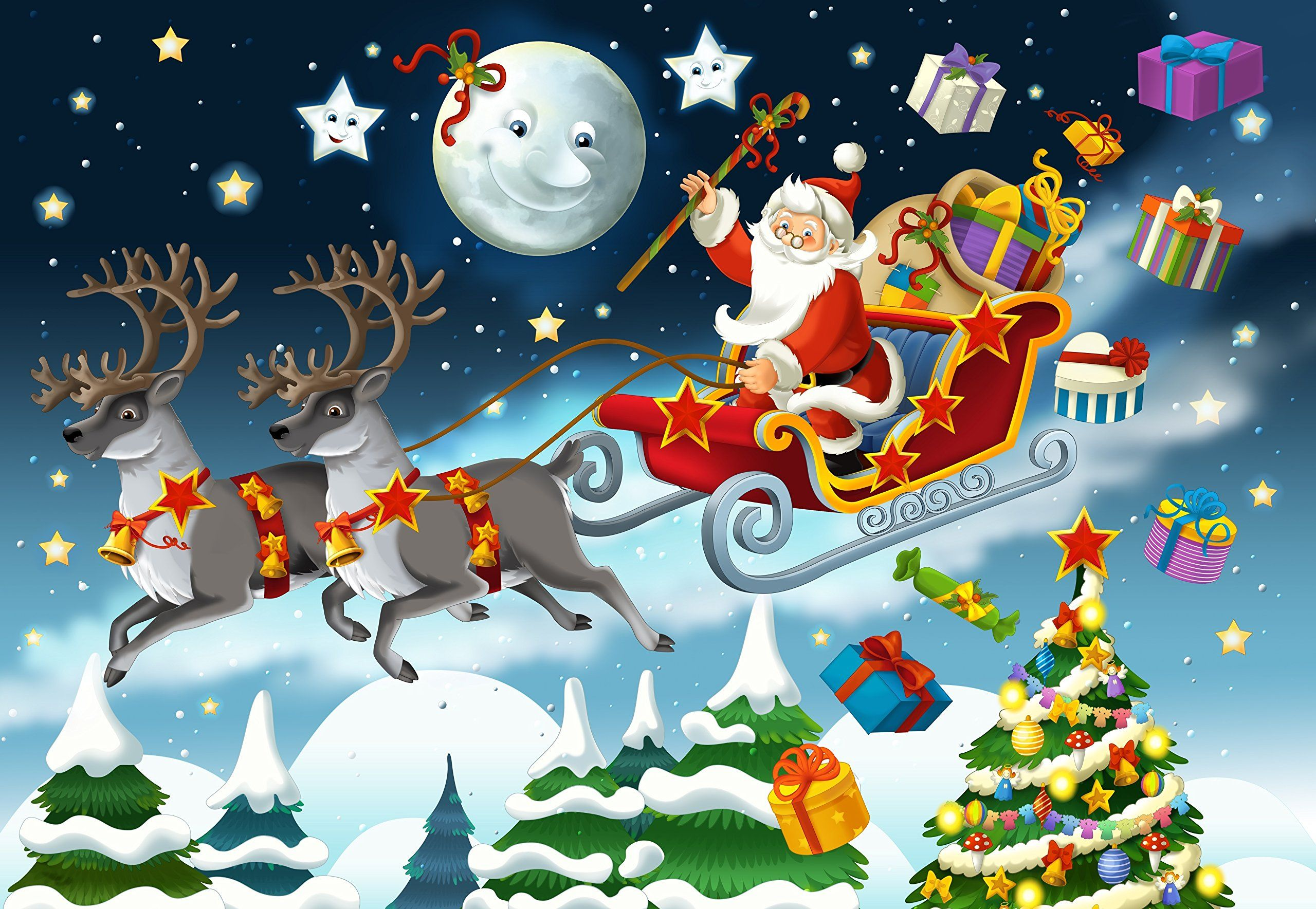 Wentworth The Christmas Santa Claus Illustration 250 Piece