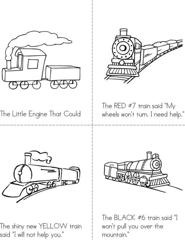 the little engine that could mini book - sheet 1