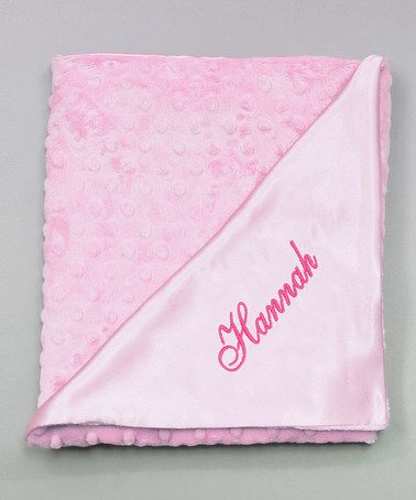 Another great find on #zulily! 27'' x 29'' Pink Snuggle Personalized Stroller Blanket #zulilyfinds