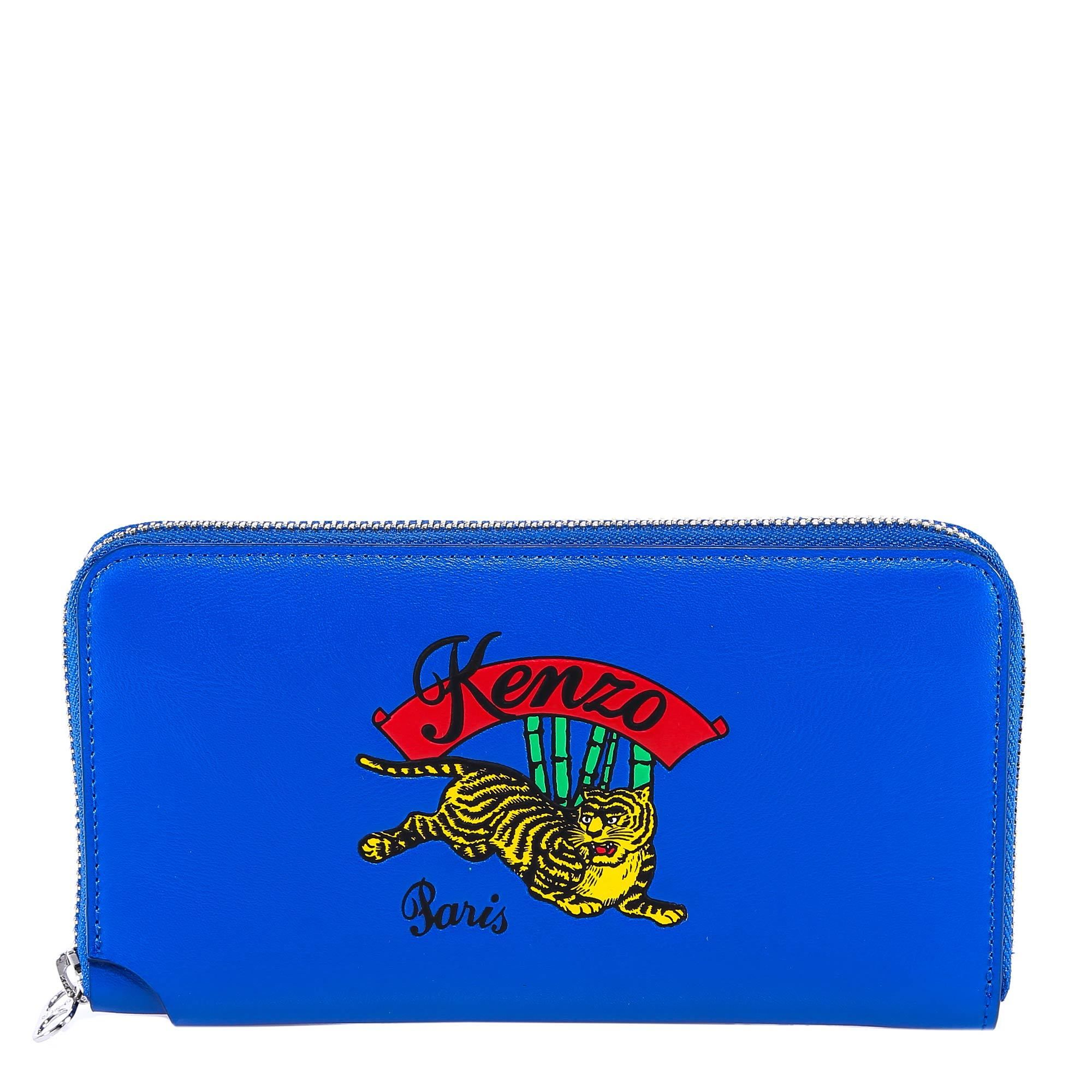 091be47b3a9 KENZO KENZO JUMPING TIGER LOGO WALLET. #kenzo Tiger Logo, Kenzo, Calf  Leather