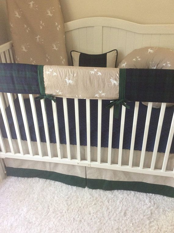 Baby Boy Cribs: Baby Boy Crib Bedding Hunter Green Navy Khaki Duck Dog