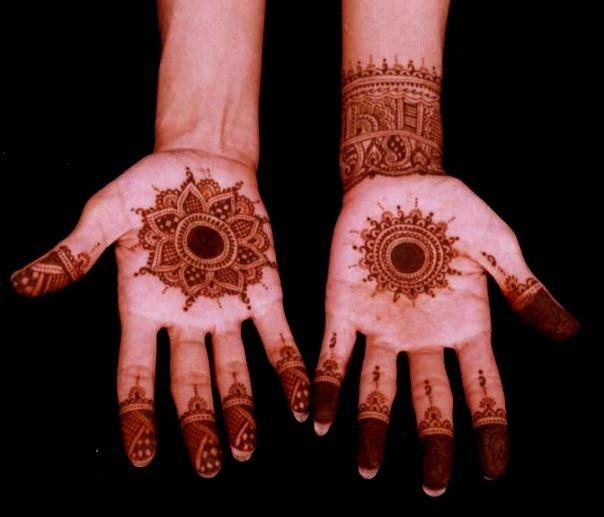Traditional Circle Mehndi Designs : Round circle henna design bridal pinterest