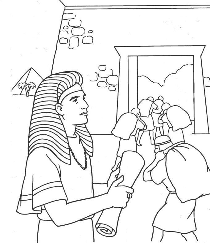 Joseph Supervising The Gathering Of Food During The Seven Years Of Abundance Genesis 41 Bible Coloring Pages Sunday School Coloring Pages Bible Coloring