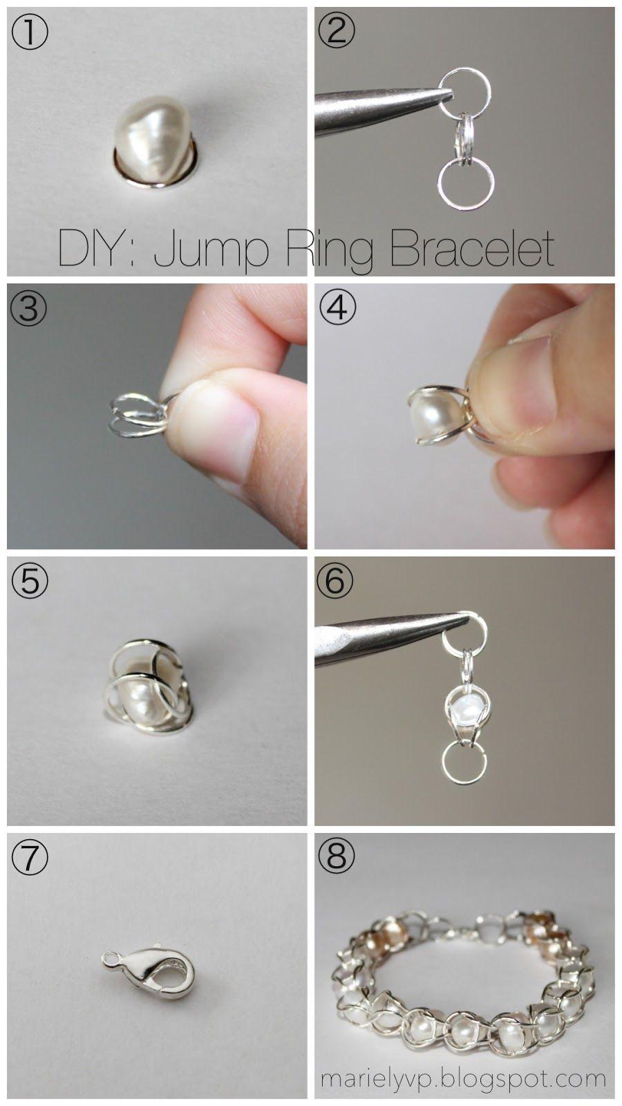 Perfect DIY Jump Ring Coil Bracelet