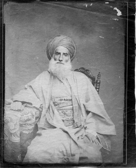 Unidentified man of high rank, Oman or Yemen, circa 1870s.