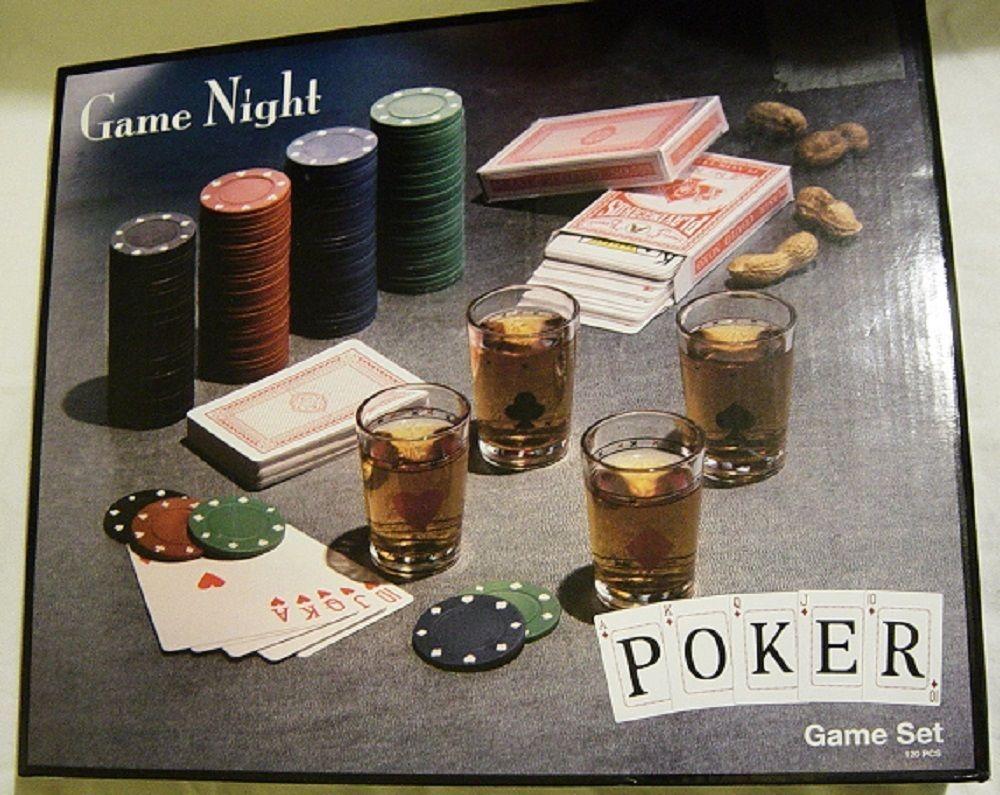Game Night Poker Game Set Poker, Shot glass set