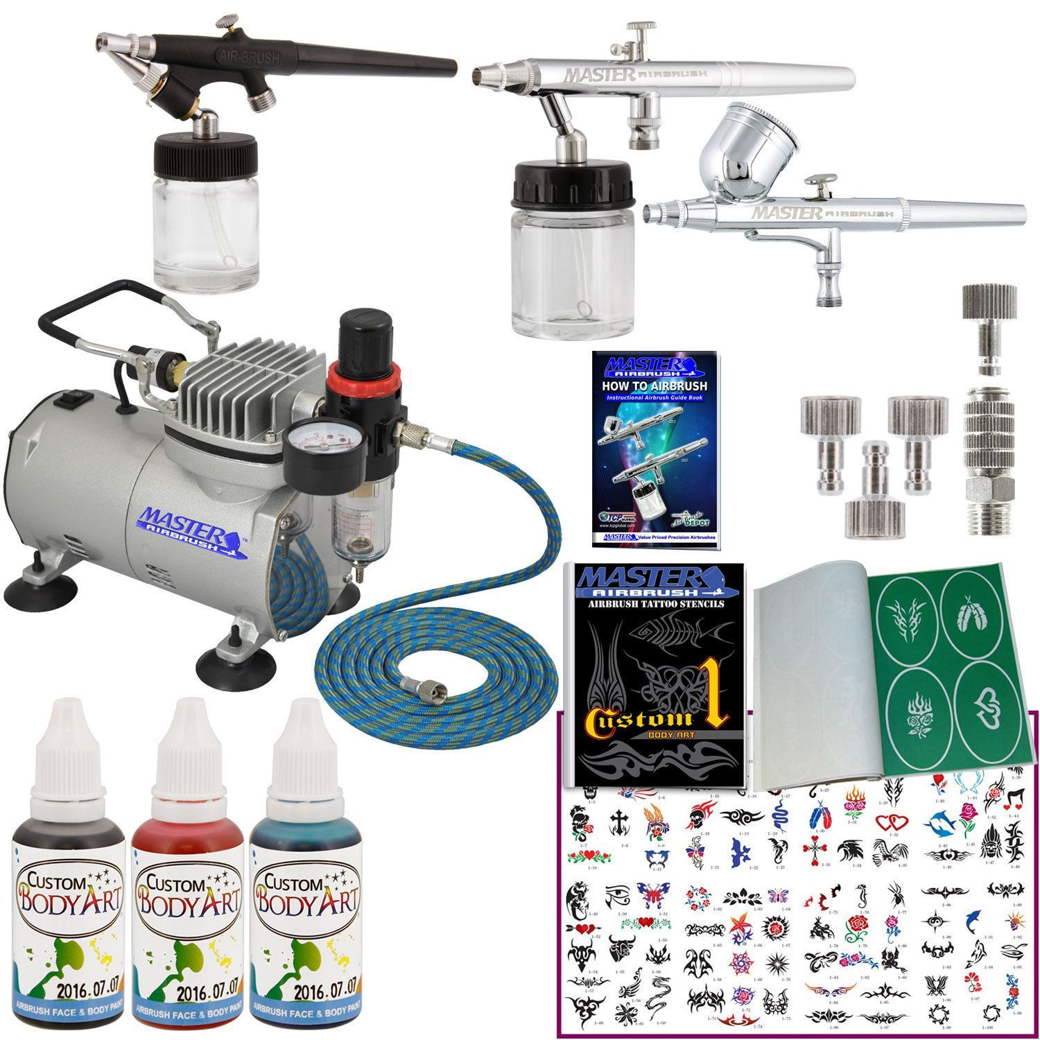 Details About 3 Airbrush Temporary Tattoo System Air