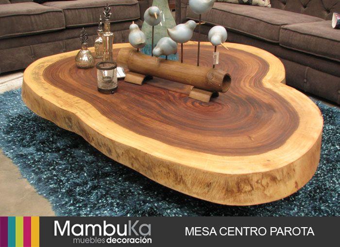 Mesa centro parota mambuka muebles pinterest centro - Mesas de troncos de madera ...