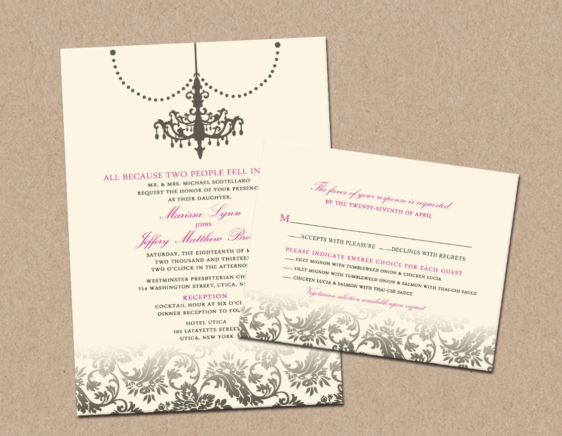 Wedding Invitation With Rsvp Card Based Off The Layout Of Where