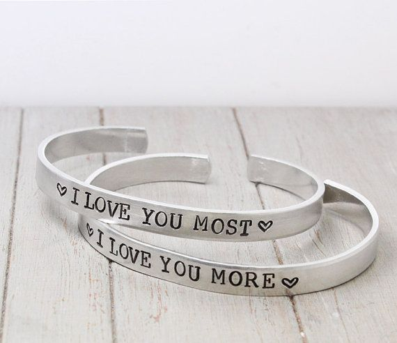 dd938cfedebc5 I Love You More Cuff Bracelet - Mom Daughter Jewelry - I Love You ...