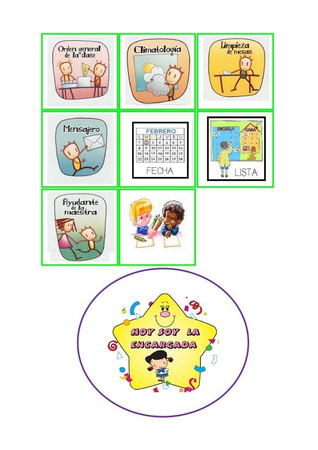 Dibujos Imprimir Responsabilidades Encargados De Aula Y Medallas
