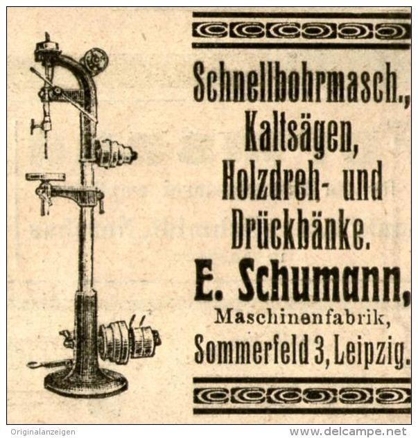 original werbung anzeige 1906 schnellbohrmaschinen kalts gen schumann leipzig ca 45 x. Black Bedroom Furniture Sets. Home Design Ideas