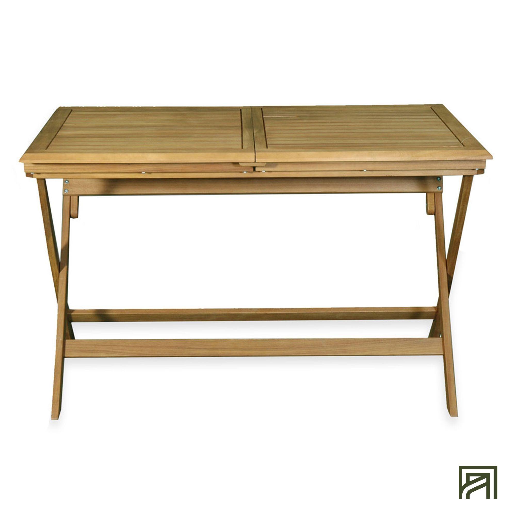 alinea : milana table de jardin extensible pliante en acacia (6 à 8 ...