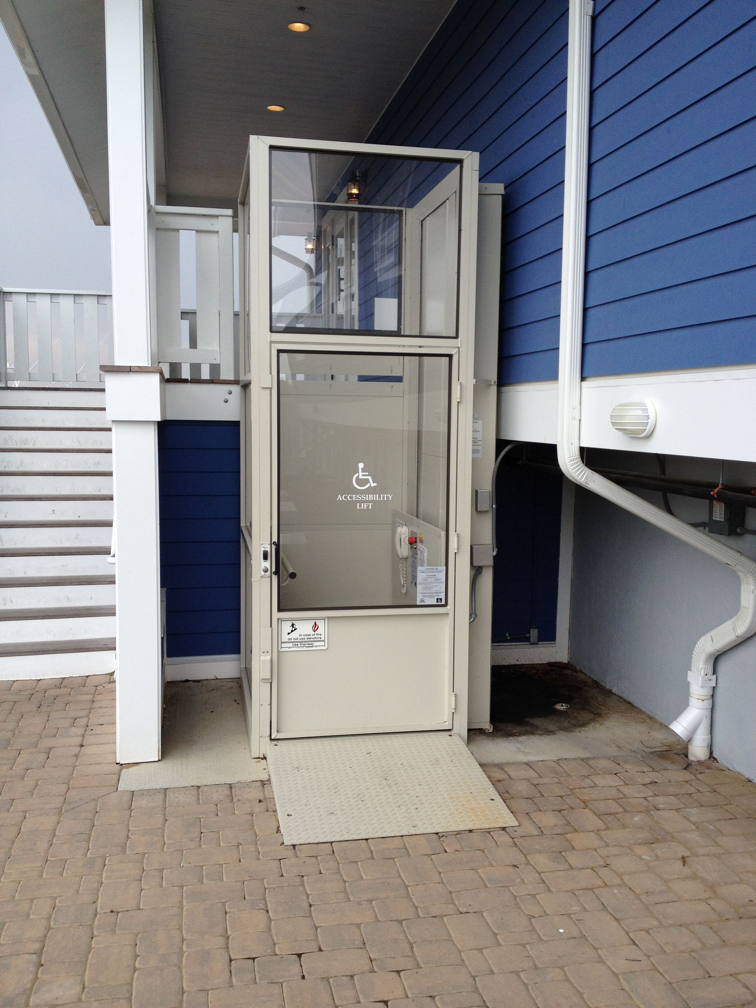 exterior wheelchair platform lift | handicapped accessible | Pinterest