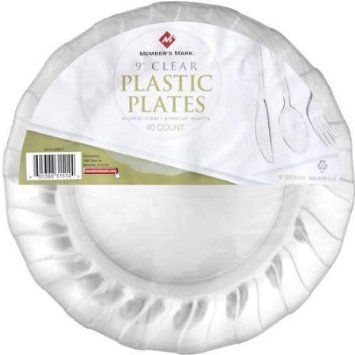 Amazon.com: Member's Mark Clear Plastic Plates - 9in/40ct: Home & Kitchen