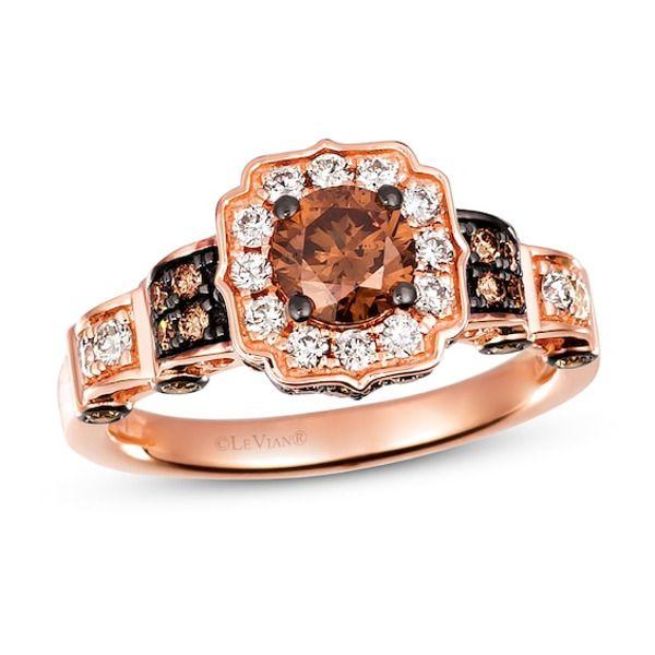 Le Vian Nude Diamond Ring 5/8 ct tw Round-cut 14K Honey