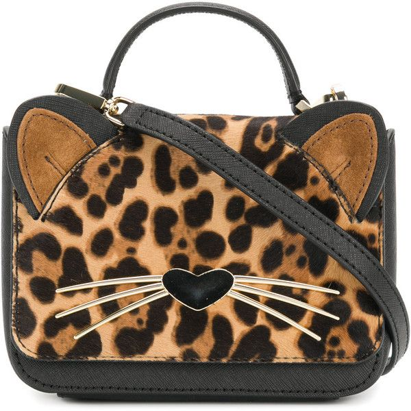 Kate Spade Leopard Print Cat Mini Bag 357 Liked On Polyvore Featuring Bags